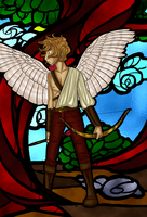 Stained-Glass Eros by TheDutchesse