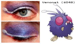 Pokemakeup 048 Venonat by nazzara