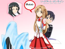 .: SAO : Ghost Yui Scares Kirito :. by Sincity2100