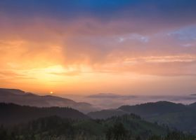 Sunrise in fog 2 by lica20