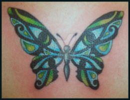 Eye of Horus Butterfly by hellcatmolly