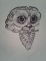 Psychedelic Owl - Original 1 HEAD by SqueezeBoxx