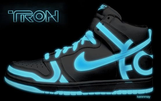 Tron Nike Dunks by kaycunana