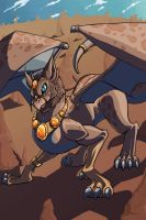Weird Dragon Gryphon Thingie by QuiltedPanda