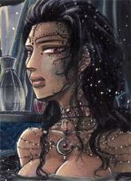 ACEO#60 Nightbath by Drachenfuerst