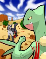 Sceptile vs Mightyena by Sanngot