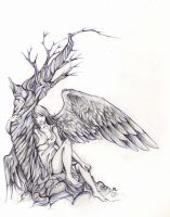 angel of longing by pandabarrie