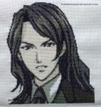 Genya Arikado (Dawn of Sorrow) Cross Stitch by ShiroiKoumori