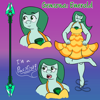 Gemsona: Emerald by Sigma-the-Enigma
