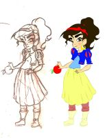Salma as A little Snow White by ArsalanKhanArtist