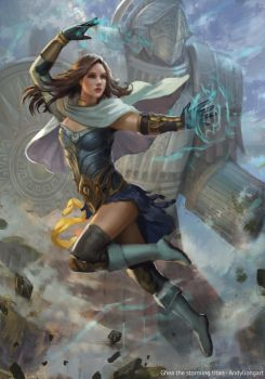Anna and Ghea. The storming Titan. by andyliongart