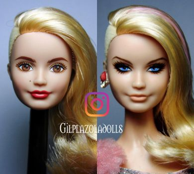 befor and after repaint doll by plazola