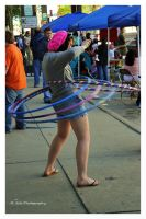 The Hula Hoop Girl by erbphotography