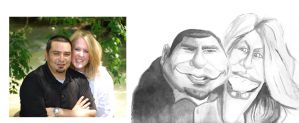 Racheal and Jamie Caricature by DoodleArtStudios