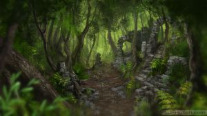 Forest Speed Paint by LJFHutch