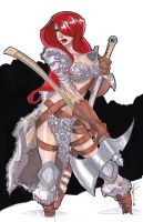 11x17 Red Sonja by Hodges-Art