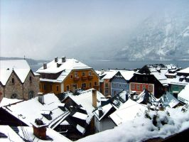 Hallstatt houses by DaPsychedelicSoul