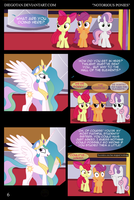 CMC and Princess Celestia in ''Notorious Ponies'' by DiegoTan