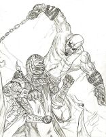 Scorpion X Kratos by Amrock