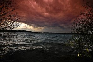 Stormy lake by MisterDedication