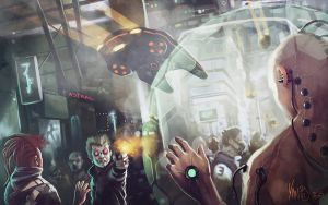 Cyberpunk : Assassination by Traaw