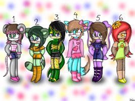 Female Sonic Adoptables! CLOSED! by CoolAdoptables