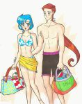 Ami and Taiki at the beach by IlariaSometimes