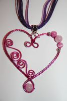 Valentine Heart pendant by HelianthusMay