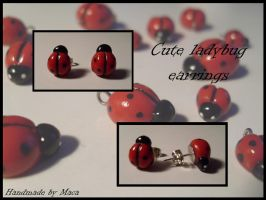 Ladybug earrings by Maca-mau
