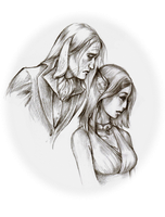 Ailene and Welles bust by Eliminate