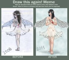 before and after meme by Venty-chan