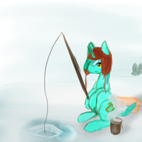 Ice Fishing by LaArka