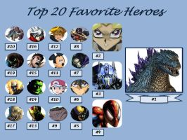 Top 20 Heroes by artdog22