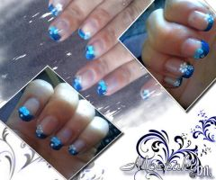Nail Art Blue by Bella-Eugenia