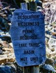 Desolation Wilderness Marker, Eagle Falls by mouthmango