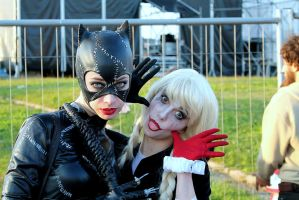 Sultry cat and Silly jester by ThePiccolaPi