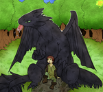 hiccup   toothless  PS color by phation