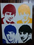 Beatles stencil painting pop art by claroscuro1