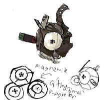 Realistic magnemite by umbbe