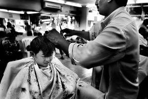 Indian Barber by SAMLIM