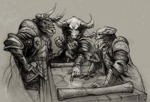 Minotaur generals by JohnMcCambridge