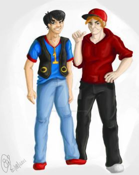 Thomas and James : Color by ElisitaGayle
