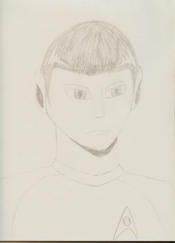 Spock Sketch by TheMikeJack01