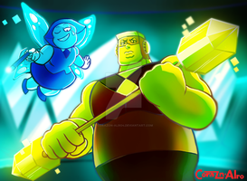 Steven Universe: Aquamarine and Topaz by Corazon-Alro4