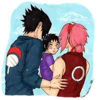 Sasusaku - Little shinobi by Liaah-chan