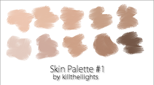 Skin Colour Palette by killtheliights