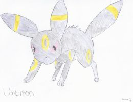 Umbreon Colored by SweetKey