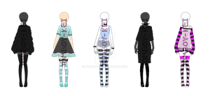 Pastel Outfits {{CLOSED}} by Tomboy-Kei