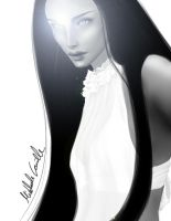 Beauty in white  and black by AlunaSkye