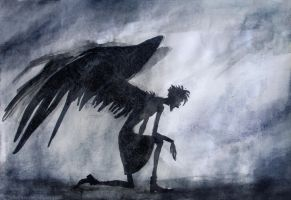 Hard time for Guardian Angel by elicenia